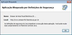 Problemas com o Emissor NFE e Java