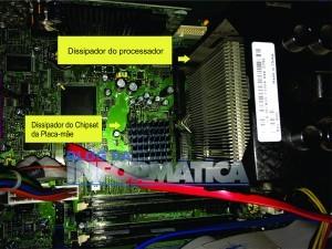 Dissipador do chipset e processador