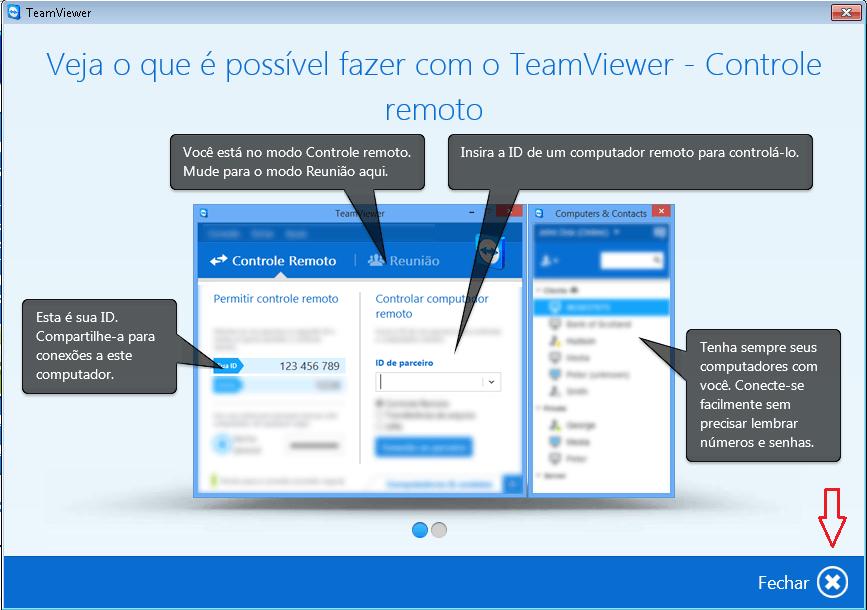 TeamViewer instalado com sucesso