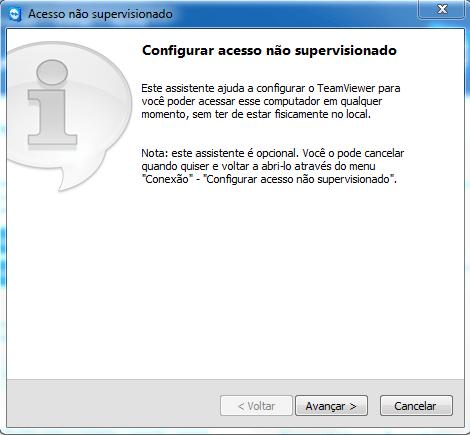 Configuração de acesso supervisionado TeamViewer