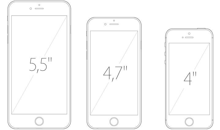 iPhone6 - Diferenças das telas