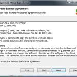 PDF Split - Aceitar os termos da licença