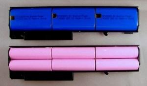 Bateria aberta - Células