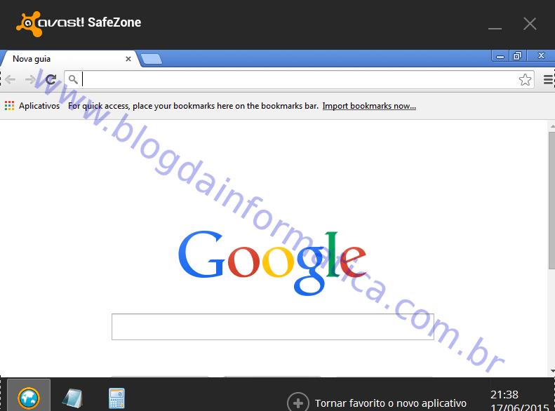Exemplo do Navegador em 'SafeZone'