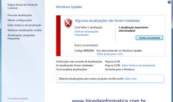 Erro Windows Update 80092004 KB3038314