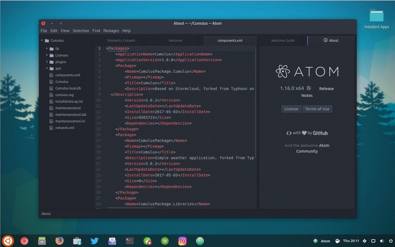 Atom editor de texto