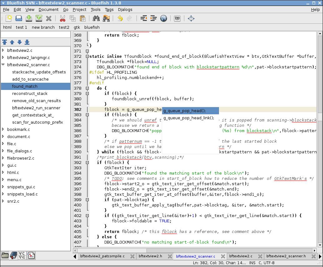 Bluefish editor de texto