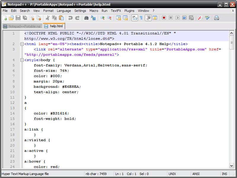 Notepad Plus - Editor de texto