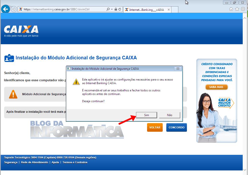 Instalando aplicativo de segurança