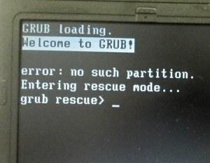 Como reparar, restaurar ou instalar novamente o GRUB