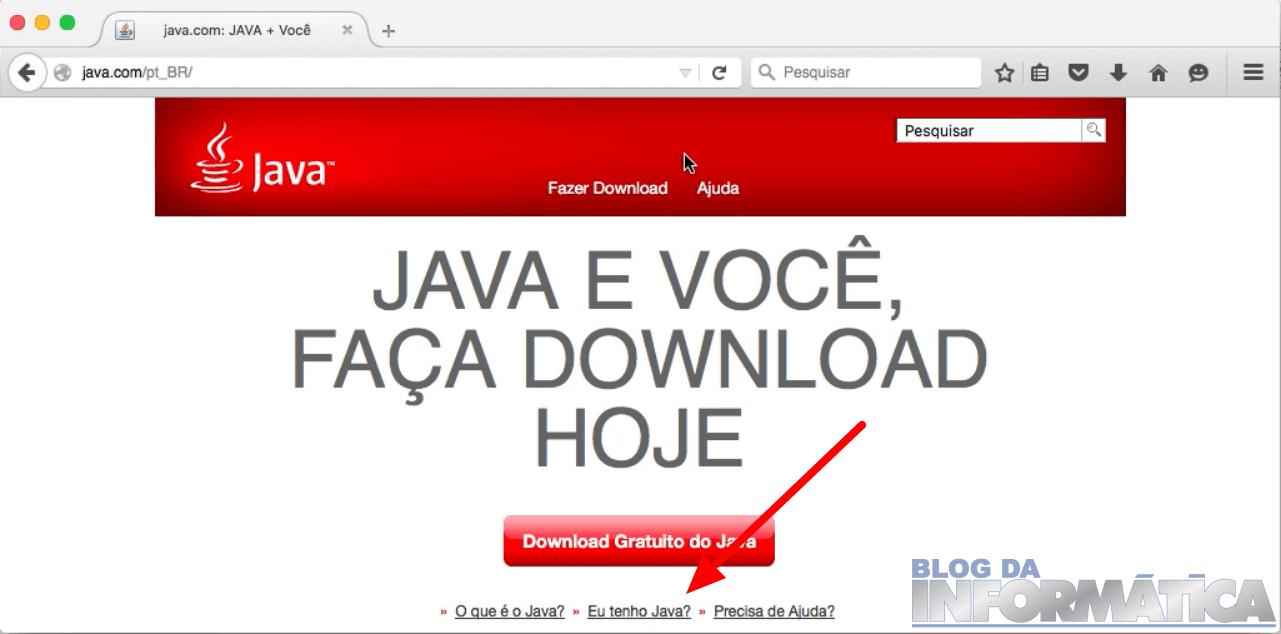 Verificação do Java