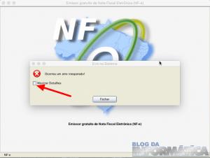 Emissor NFe no MAC – Erro Inesperado