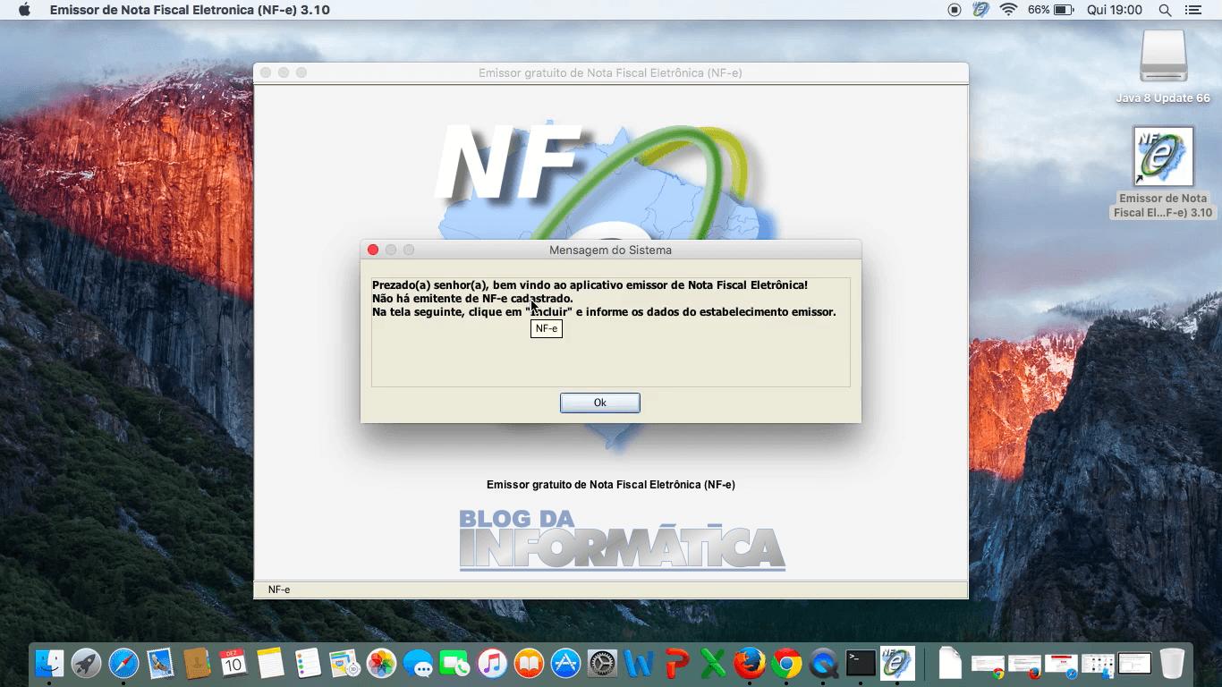 Emissor NFe funcionando no MAC