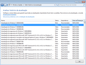 Erro ao instalar KB3080149 – Windows Update 800B0100