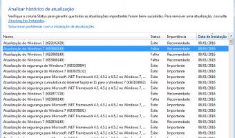 Erro na instalação do KB3080149