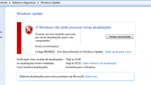 Windows Update erro 80244019