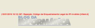 Emissor NFe Erro 387 – Rejeição Código de Enquadramento Legal do IPI Inválido