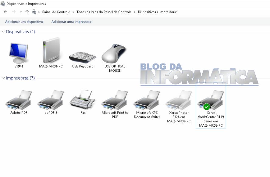 Não consigo remover impressora do Windows