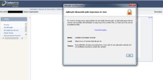 Cadastro Sincronizado – Aplicação bloqueada