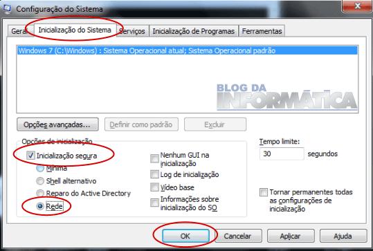 Windows 7, 8 ou 10 - Habilitando o modo seguro com rede