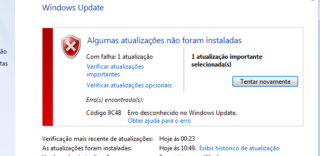 Consertar o Erro 9C48 do Windows Update