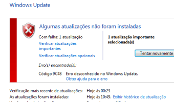 Erro Windows Update 9c48 - Internet Explorer