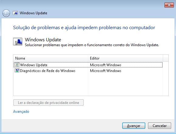 Ferramenta do Windows Update