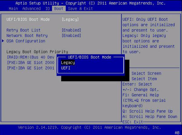 Configurações da BIOS