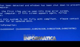 Erro ACPI compilant