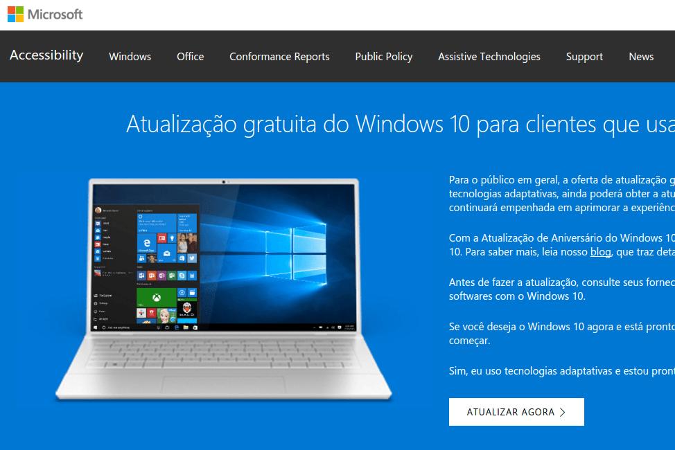 Windows 10 - Atualização adaptativa