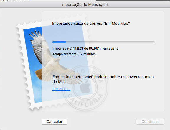 Reconstruindo a base de dados do Aplicativo Mail do Mac OS X