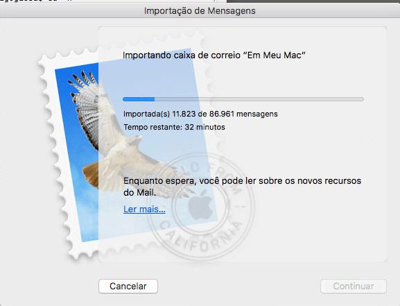 Reconstruindo a base de dados do Aplicativo Mail do Mac OS X