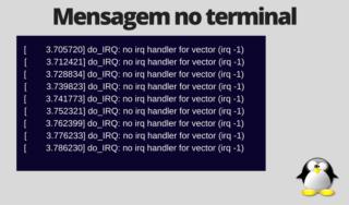 Mensagem 'No irq handler for vector'