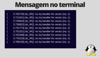 Erro 'no irq handler for vector'