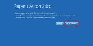 Windows 10 não inicia – Reparo automático