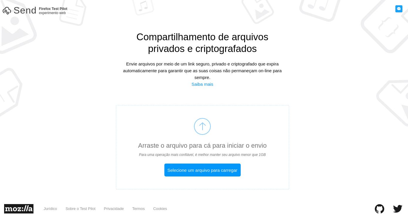Apresentando o Firefox Send