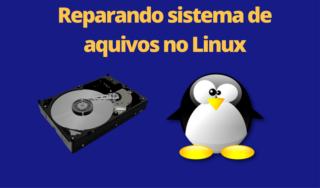 Corrigir sistema de arquivos inconsistente no Linux