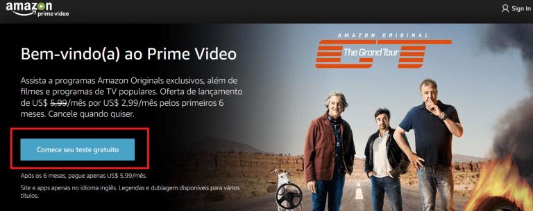 Amazon Prime Vídeo - Teste gratuito