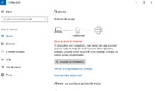 Windows 10 não obtem endereço IP com fio ou sem fio