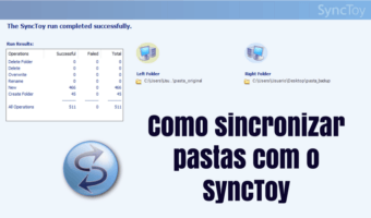 Backup simples e rápido com SyncToy 1