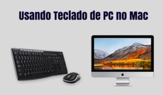 Usando teclado de PC em um Mac