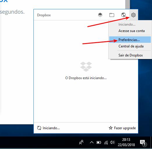 Dropbox - Preferências