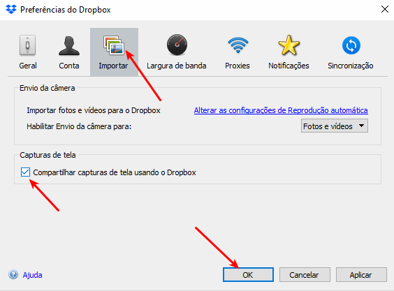 Dropbox - Capturas de tela