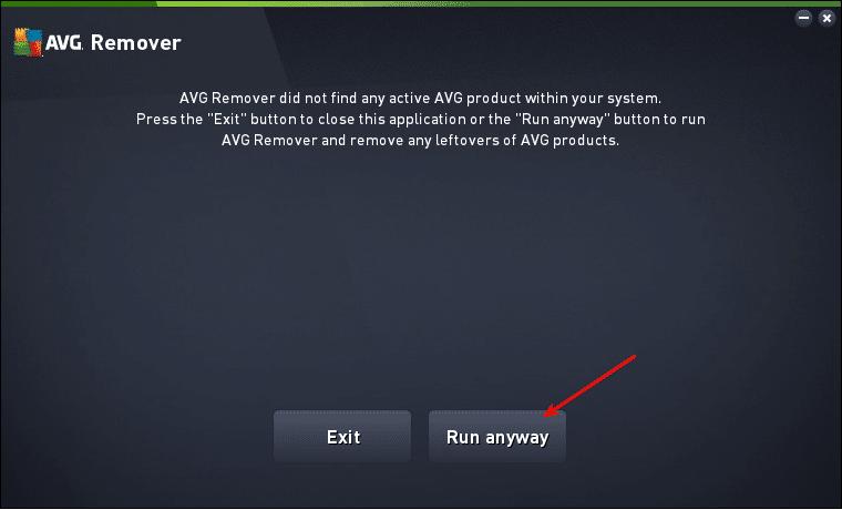 Forçando o AVG Remover