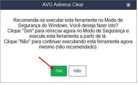 Executando o AVG Clear
