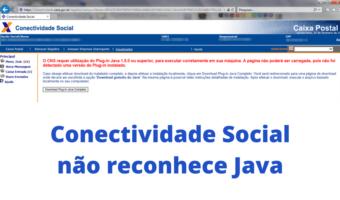 Conectividade Social não reconhece Java