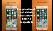 iPhone com velocidade reduzida por bateria desgastada