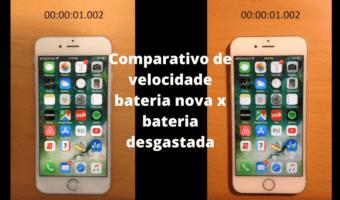 Iphone - Comparativo de performance na troca de bateria