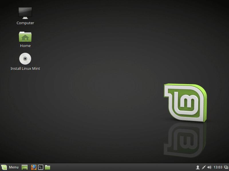 Tela desbloqueada - Linux Mint