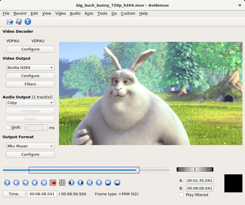 Avidemux - Editor básico de vídeos